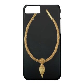 Gold necklace with acorn pendant from Monte Luna iPhone 8/7 Case