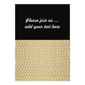 Gold Netting Abstract Digital Art 13 Cm X 18 Cm Invitation Card