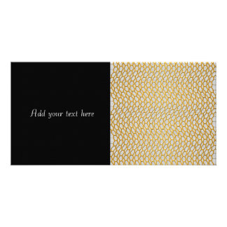 Gold Netting Abstract Digital Art Personalized Photo Card