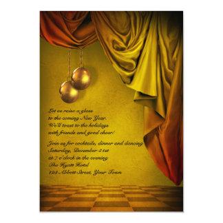 Gold New Years Eve Gala Invitation