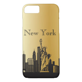 Gold New York Silhouette Phone & Ipad Cases