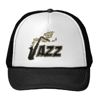 Gold Notes Jazz Sax Music Hat