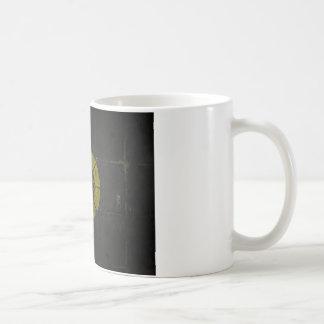 Gold Nuclear Basic White Mug