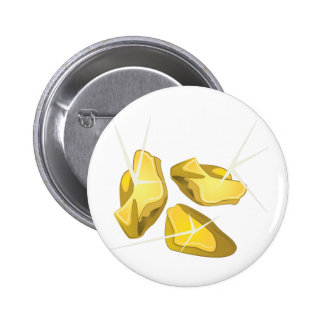 Gold Nuggets 6 Cm Round Badge