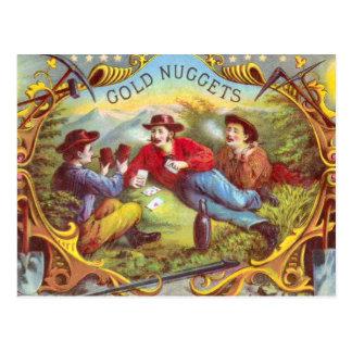 Gold Nuggets Vintage Cigar Label Postcard