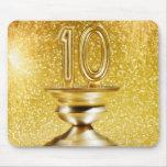 Gold Number 10 Trophy Mousemats