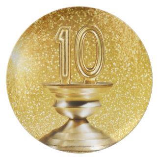 Gold Number 10 Trophy Plate