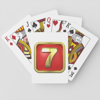 Gold Number Seven Playing Cards