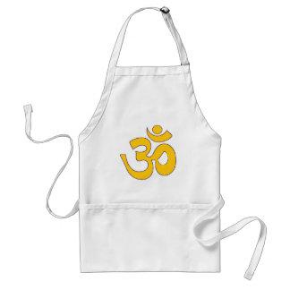 gold om aum sanskrit mantra ,symbol ,Shape of Aum Standard Apron