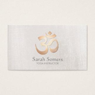 Gold Om Symbol Yoga and Meditation Teacher