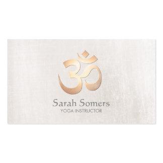 Gold Om Symbol Yoga and Meditation Teacher Pack Of Standard Business Cards