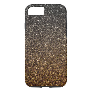Gold Ombre Faux Glitter iPhone 7 Case