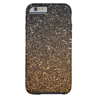 Gold Ombre Faux Glitter Tough iPhone 6 Case