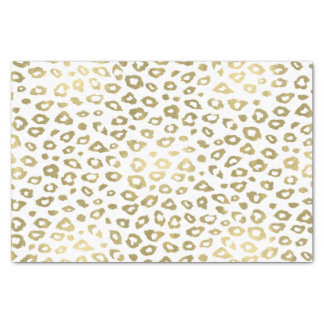 Gold Ombre Leopard Print Tissue Paper
