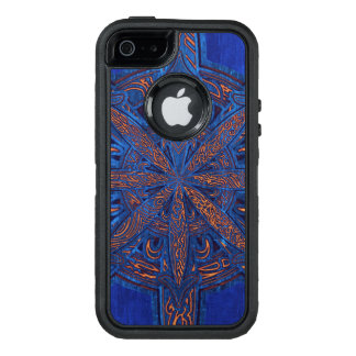 Gold on Blue Chaos OtterBox Defender iPhone Case