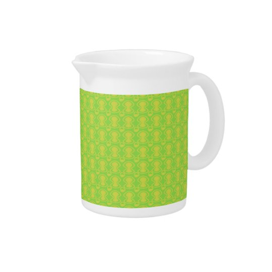 Gold on Green Abstract Pattern Pitcher