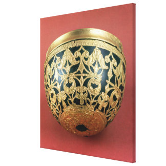 Gold openwork for a varnished bowl canvas print