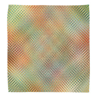 Gold Orange Yellow Pink Red Green Pattern Bandana
