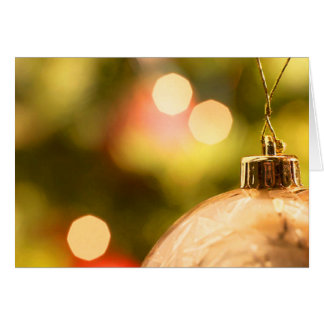 Gold Ornament With Lights Note Card