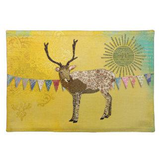 Gold Ornate Buck Sunshine  Placemat