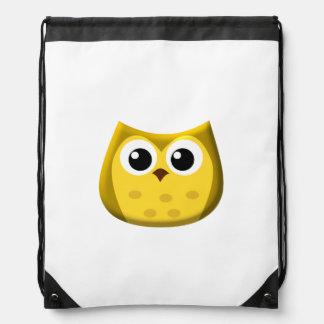 Gold Owl Drawstring Backpack