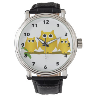 Gold Owls Watch