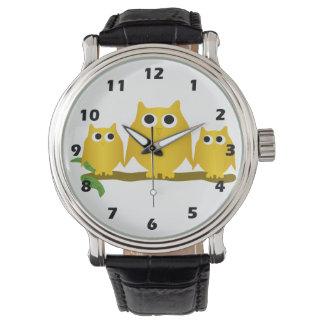 Gold Owls Wrist Watch