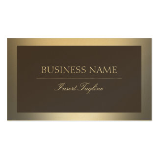Gold Pack Of Standard Business Cards
