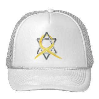"""Gold """"Painted"""" Childhood Cancer Ribbon Cap"""