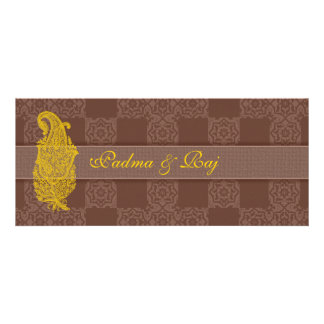 Gold Paisley and Brown Wedding Invitations
