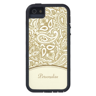 Gold Paisley Pattern iPhone 5 Covers