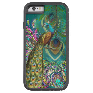 Gold Paisley Peacock & Feather iPhone 6 Tough Xtreme iPhone 6 Case