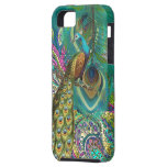 Gold Paisley Peacock & Feather You Choose Colour iPhone 5 Case