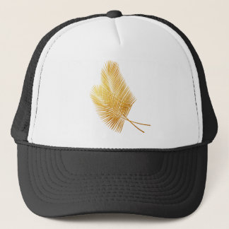 Gold palm leaf tropical Cap