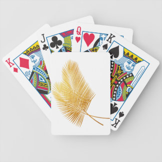 Gold palm leaf tropical card game poker