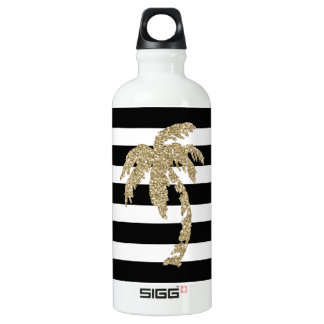 Gold Palm Tree, Black/White Sigg Water Bottle SIGG Traveller 0.6L Water Bottle