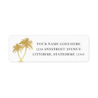 Gold Palm Tree for Beach Destination Wedding
