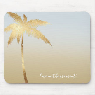 Gold Palm Tree Ombre Mouse Mat