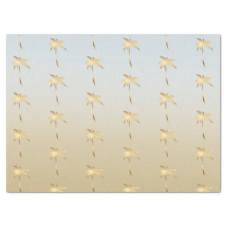 Gold Palm Tree Ombre Tissue Paper