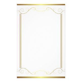 Gold Panel Stationery