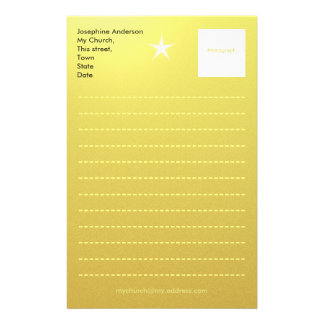 Gold Paper Template