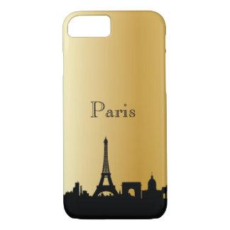 Gold Paris Silhouette Phone & Ipad Cases