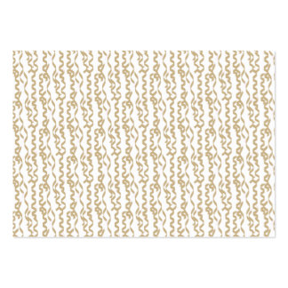 Gold Party Streamers on White Background Business Card Templates