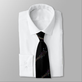 Gold+Pastel Music Notes On Black Or Any Color Tie