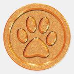 Gold Paw Print Sticker