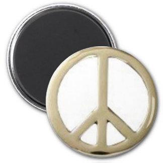 GOLD PEACE DESIGN MAGNET
