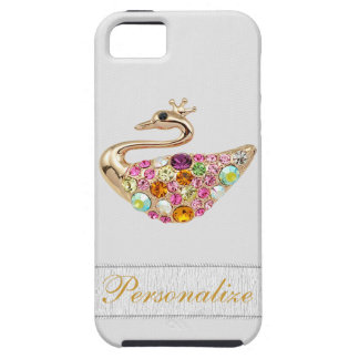 Gold Peacock & Faux Diamond Jewels iPhone 5 iPhone 5 Case