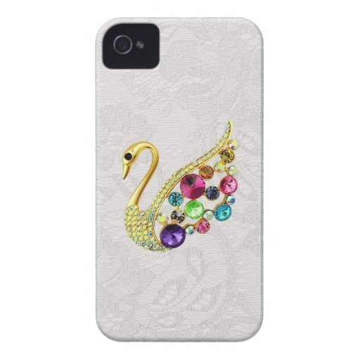 Gold Peacock & Jewels Paisley Lace Blackberry Bold Blackberry Bold Cases