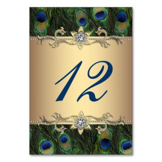 Gold Peacock Wedding Card