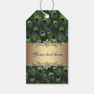 Gold Peacock Wedding Gift Tags